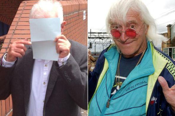Hiding: Michael Willis aka Radio 1 DJ Steve Merike and his former colleague Jimmy Saville