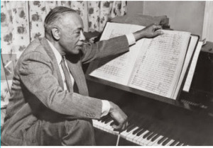 William Grant Still with his sheet music